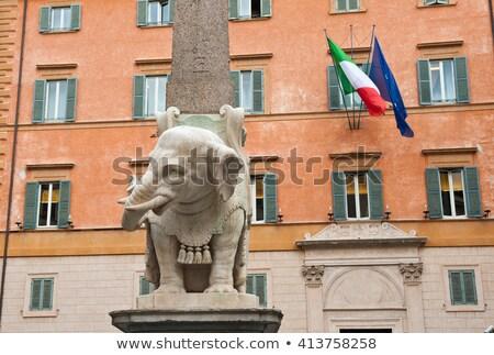 monument of elephant by bernini on piazza della minerva in rome stock photo © vladacanon