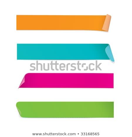Available Blue Sticky Notes Vector Icon Design Stock photo © rizwanali3d