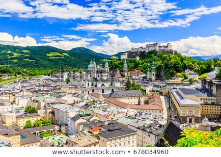 óváros · Ausztria · égbolt · templom · utazás · kastély - stock fotó © sarahdoow
