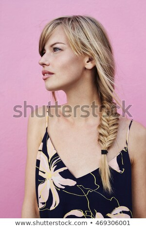 Contemplative Blonde Woman Stock photo © arenacreative