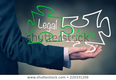 Legal Advice on Blue Puzzle. Stock photo © tashatuvango