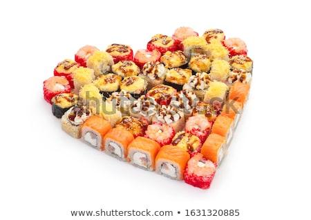 Sushi and rolls. Heart Background Stock photo © netkov1