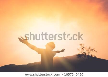молиться · молодые · служба · бизнеса · служба · люди · бизнесмен - Сток-фото © fuzzbones0
