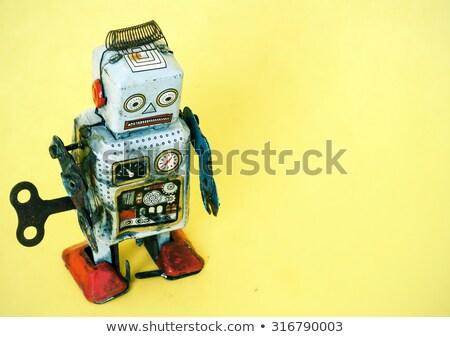 üzücü robot oyuncak yüz Retro düşünme Stok fotoğraf © davinci
