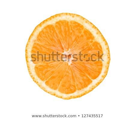 Duży świeże soczysty pomarańczowy plasterka odizolowany biały Zdjęcia stock © tetkoren