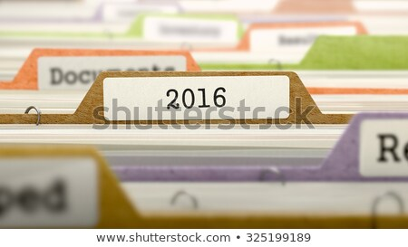 2016 - Folder Name in Directory. Stock photo © tashatuvango