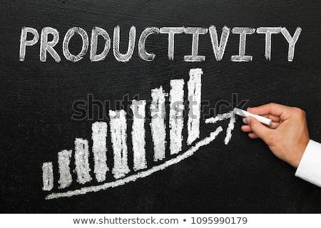 Produktiviteit schoolbord tijd Stockfoto © tashatuvango