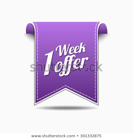 Hafta teklif mor vektör ikon dizayn Stok fotoğraf © rizwanali3d