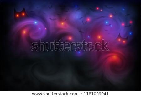 nudo · albero · silhouette · illustrazione · scary · nero - foto d'archivio © morphart