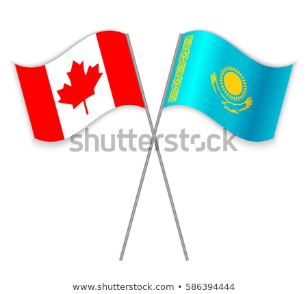 Canada and Kazakhstan Flags Stock photo © Istanbul2009