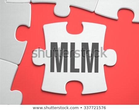 Mlm puzzel plaats vermist stukken niveau Stockfoto © tashatuvango
