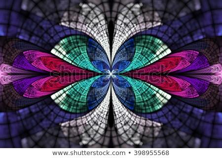 Stockfoto: Fractal · illustratie · heldere · ornament · bloem