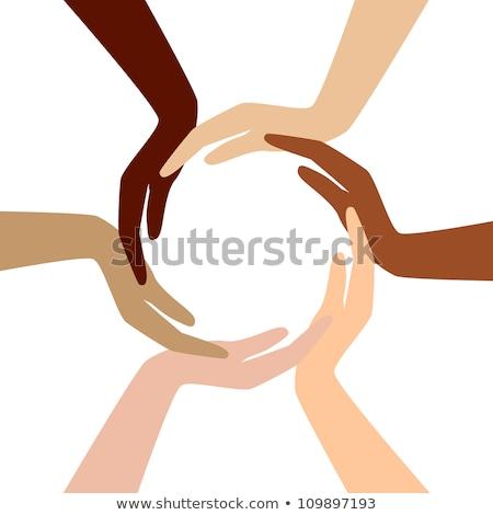 Diferente mãos círculo mão gestos Foto stock © mayboro1964