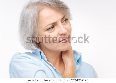 Mulher sofrimento pescoço dor branco saúde Foto stock © wavebreak_media