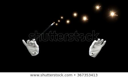 Magik strony czarny kopia przestrzeń magic Zdjęcia stock © lightkeeper
