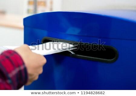 Mulher escrita remetente endereço envelope feminino Foto stock © stevanovicigor