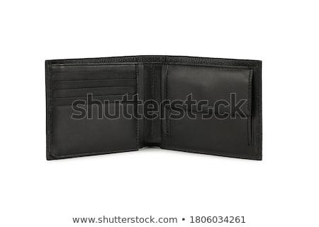кожа · бумажник · изолированный · белый · фон · Финансы - Сток-фото © shutswis
