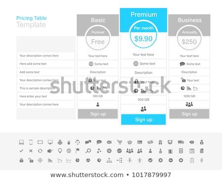 Licht lijst opties een plan Stockfoto © liliwhite