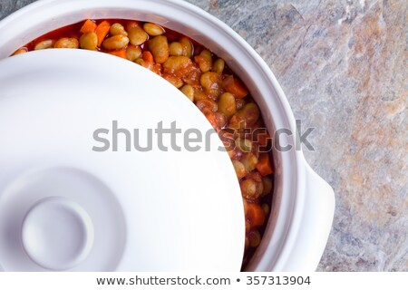 Lima bean casserole cooling off in the dish stock photo © ozgur