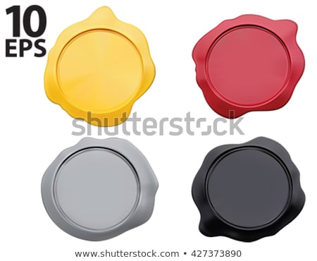 Certified Guaranteed Red Seal Vector Icon stock photo © rizwanali3d