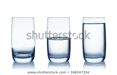 Três vazio óculos vinho tinto um Foto stock © compuinfoto