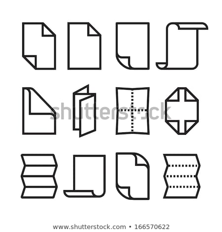 Vector simple folded black and white paper leaflets  Stock photo © Elisanth
