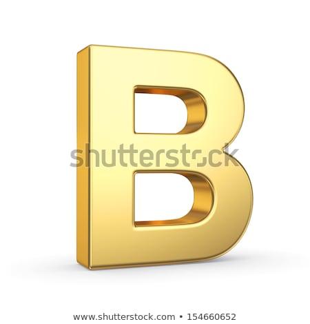 List obyty złoty obiektu biały Zdjęcia stock © creisinger