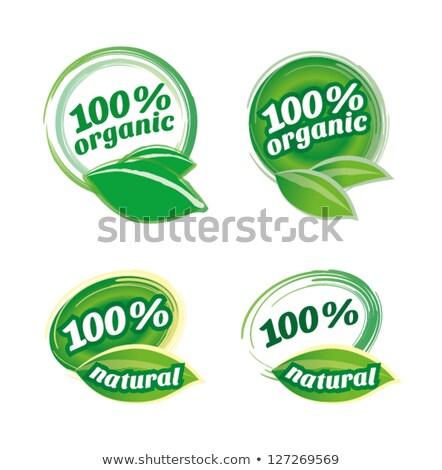 Organic labels 1 Stock photo © Karamio