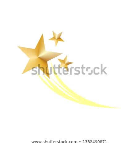 Złoty gwiazdki symboliczny fajerwerków ikona Zdjęcia stock © Winner