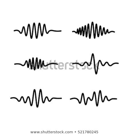 Onda sonora linha ícone teia móvel infográficos Foto stock © RAStudio
