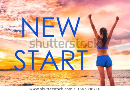 sorrir · verão · menina · praia · isolado · sexo - foto stock © robuart