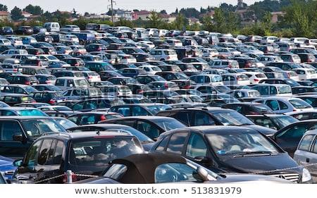 Car park full of cars Stock photo © bluering