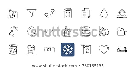 Gas container line icon. Stock photo © RAStudio