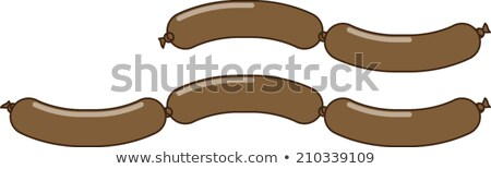 Chain of sausages line icon. Stock photo © RAStudio