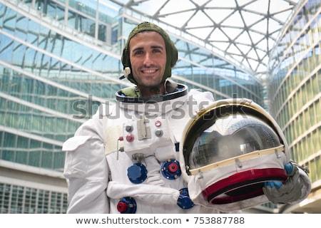 мужчины астронавт иллюстрация белый фон костюм Сток-фото © bluering