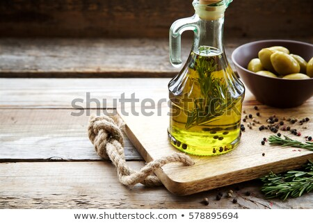 olive oil cruet close up stock photo © marimorena