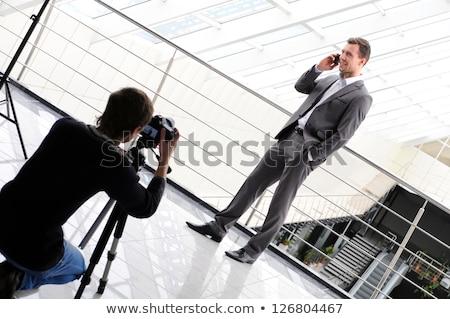 Professionelle Fotografen Zuordnung Linse Freien Stock foto © zurijeta