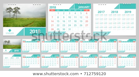 Foto stock: Red · calendario · ilustración · vector · formato · diseno