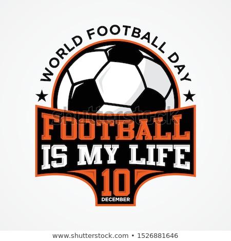 Football or soccer ball on grass. EPS 8 Stock photo © beholdereye