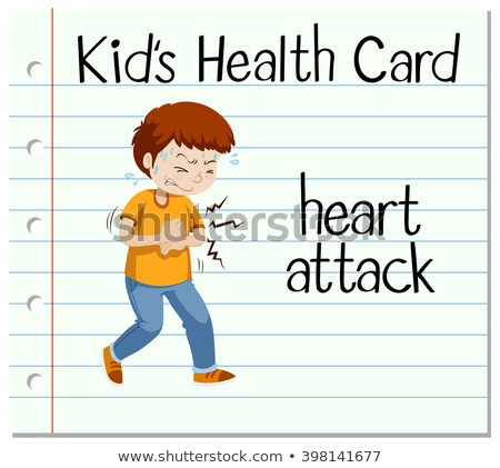 Health card with man having heart attack Stock photo © bluering