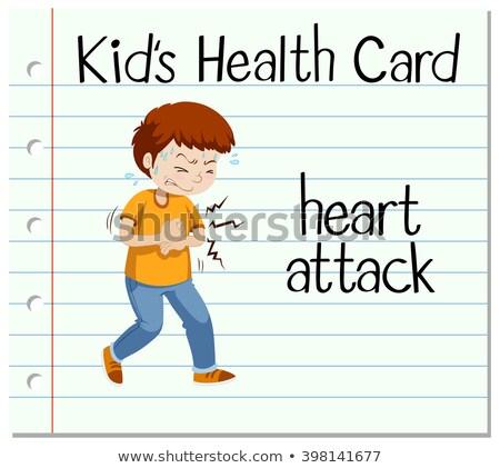 Gezondheid kaart man hartaanval illustratie medische Stockfoto © bluering