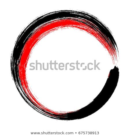 Stok fotoğraf: Kırmızı · zen · daire · vektör · minimalist · sanat