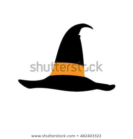 魔女の帽子 ハロウィン アイコン 黒 帽子 白 ストックフォト © mcherevan