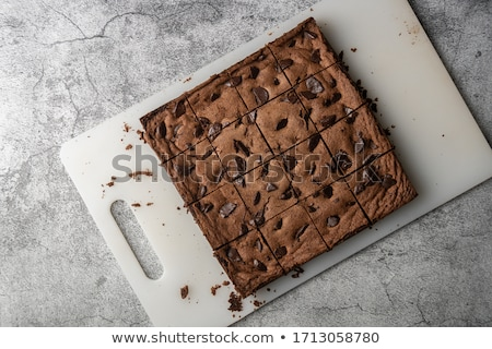 çikolata yonga çikolatalı kek plaka beyaz tatlı Stok fotoğraf © Digifoodstock