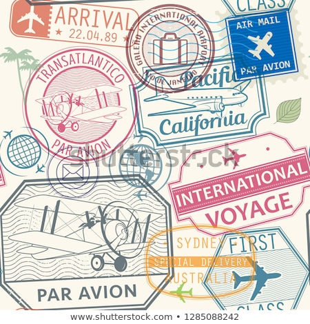 par avion grunge stamp vector Stock photo © H2O