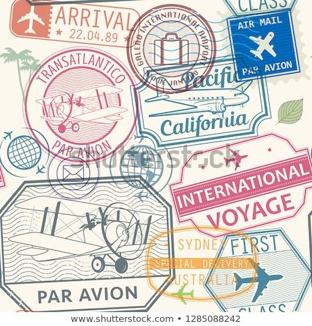 poczta · lotnicza · wysyłki · stanie · ilustracja · cartoon · spadochron - zdjęcia stock © h2o