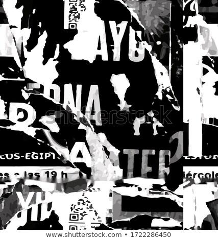 черный газета письма бумаги алфавит Сток-фото © Evgeny89
