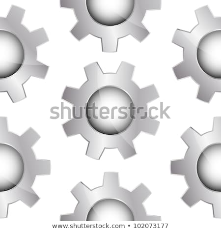 Glossy metal cogwheels on white, seamless pattern stock photo © Evgeny89