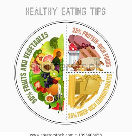 Saudável equilibrado comida pão vegetal dieta Foto stock © M-studio