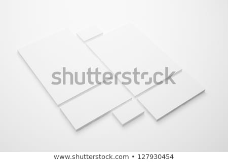 Vazio artigos de papelaria modelo ilustração branco flor Foto stock © bluering
